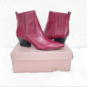 FRANCO SARTO Luca Ankle Boot Red Croc